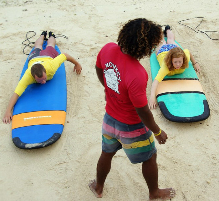 Beginners Surf Lessons in Bali